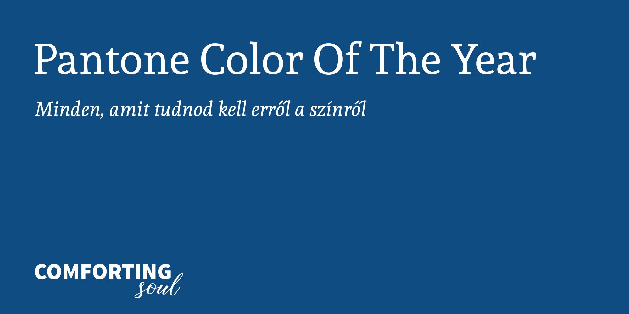 A Pantone 2020-as év színe: Classic Blue
